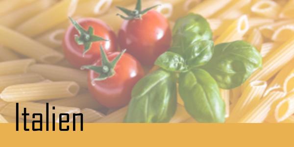 Retrouvez vos plats Italien