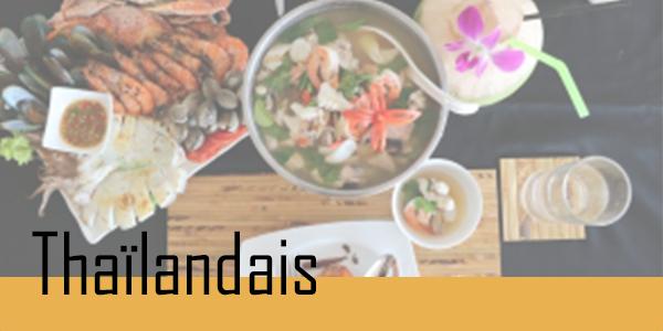 Retrouvez vos plats Thaïlandais