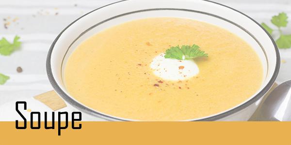 Retrouvez votre sélection de soupe.